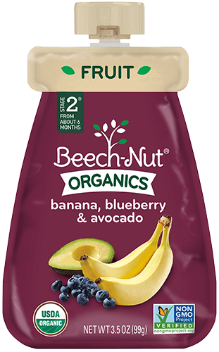 organics banana, blueberry & avocado pouch