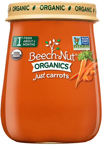 organics just carrots jar