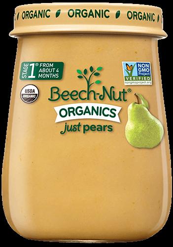 organics just pears jar