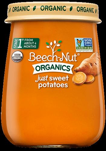 organics just sweet potatoes jar