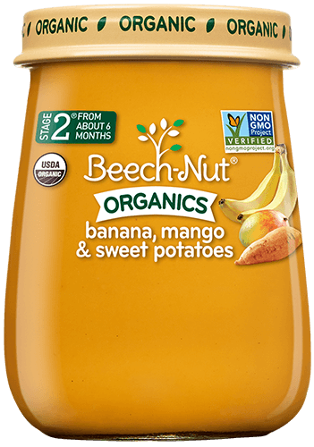 Beech-Nut® Organics Banana, Mango & Sweet Potatoes Baby Food
