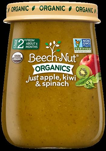 Beech-Nut® Organics Just Apple, Kiwi & Spinach Stage 2 ...