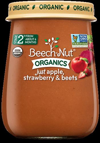 organics just apple, strawberry & beets jar