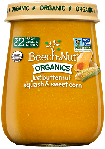 organics just butternut squash & sweet corn jar