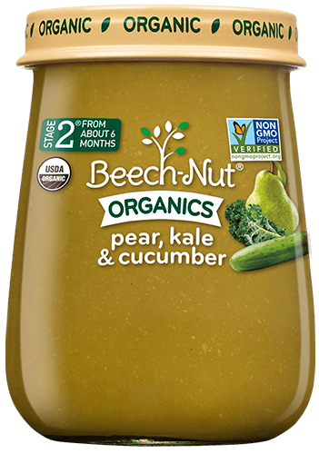 organics pear, kale & cucumber jar