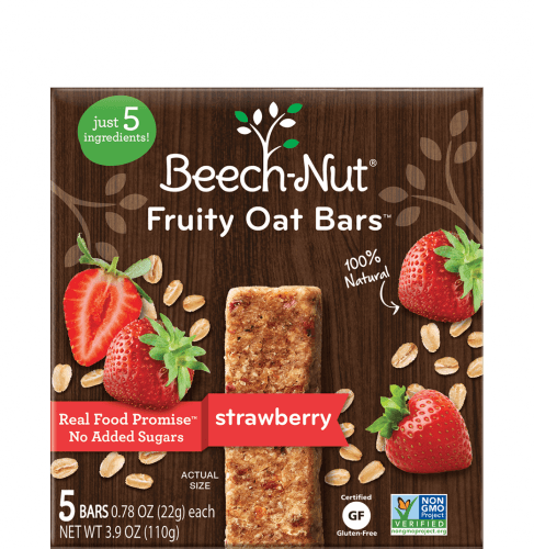 strawberry fruity oat bars