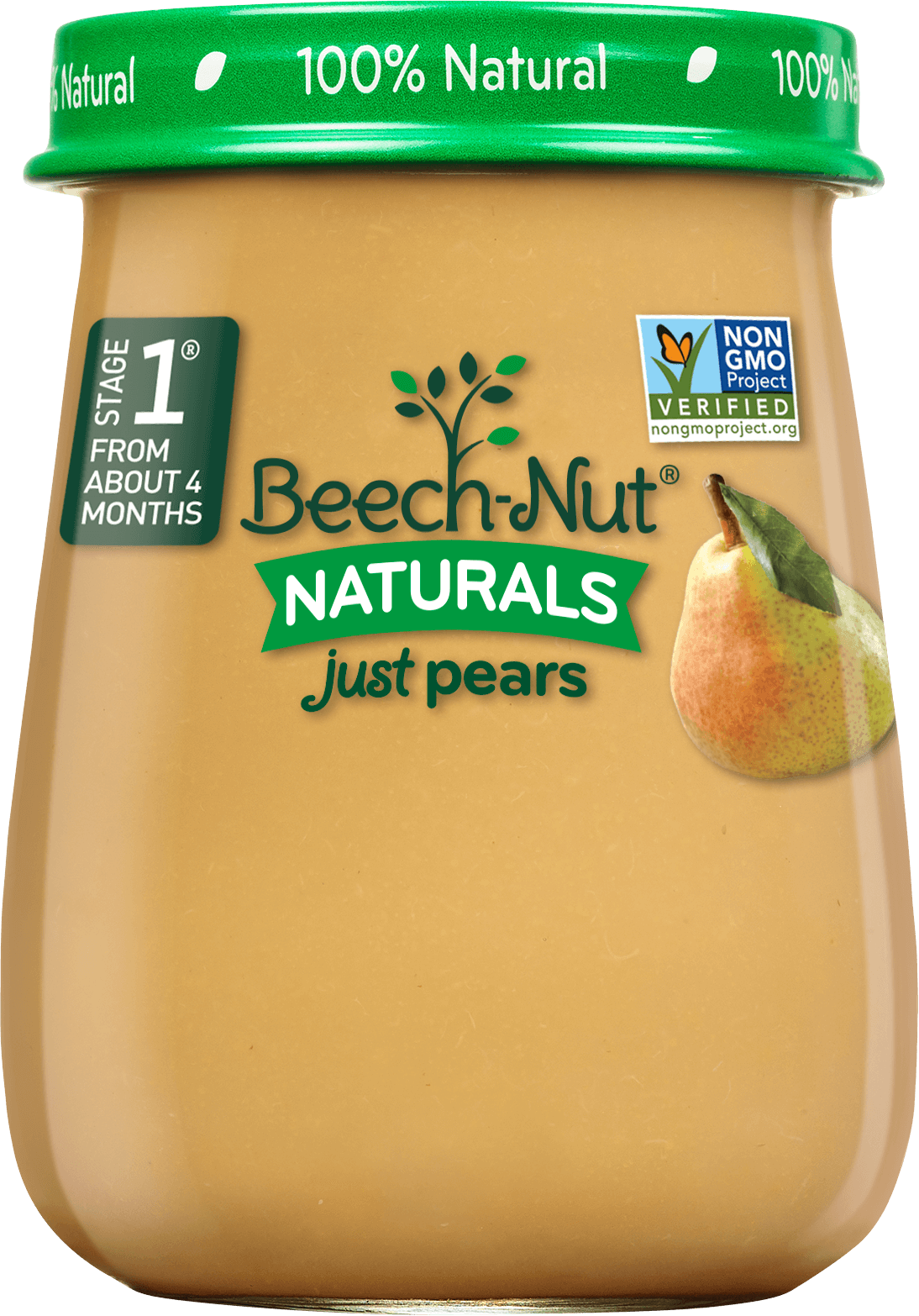 Beech Nut 174 Naturals Just Pears Stage 1 Baby Food