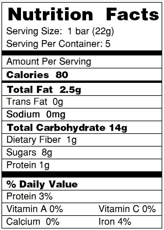 Beech Nut 174 Banana Fruity Oat Bars Stage 4 Snacks