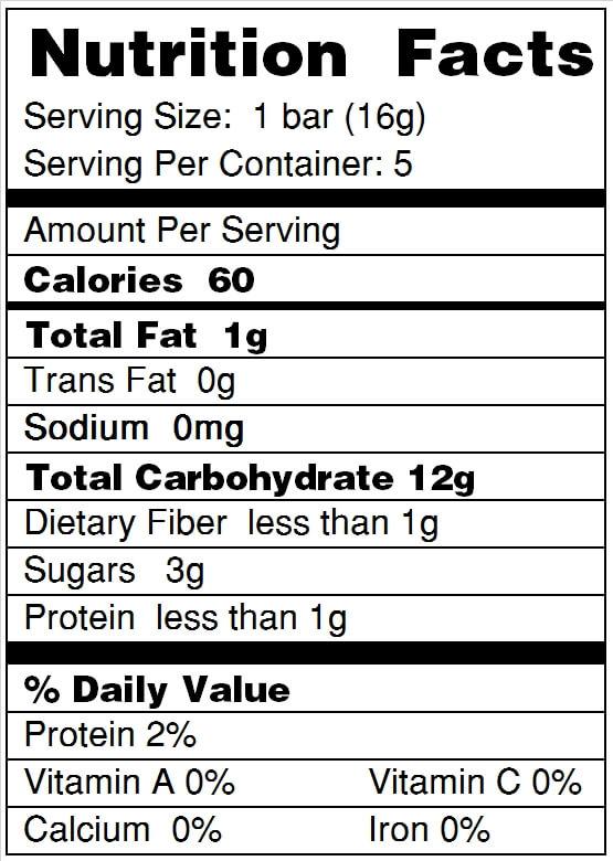 Luna S Living Kitchen Nutrition Facts