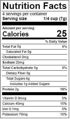 Beech-Nut Sweet Potato, Mango & Yogurt Nutrition
