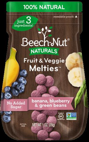Naturals banana, blueberry & green beans Fruit & Veggie Melties