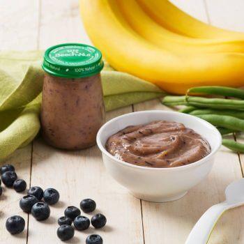 Banana, Blueberry & Green Bean Purée