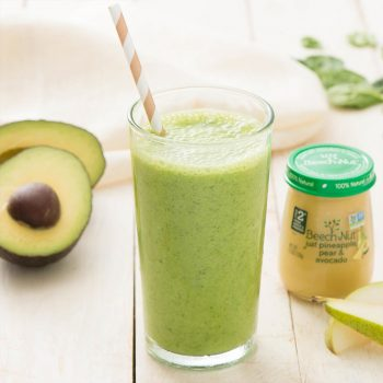 Pineapple, Pear & Avocado Smoothie With Spinach