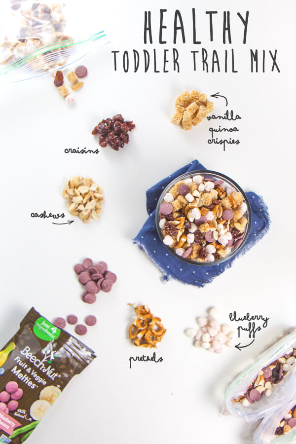 Healthy Toddler Trail Mix With Beech Nut Fruit Veggie Melties