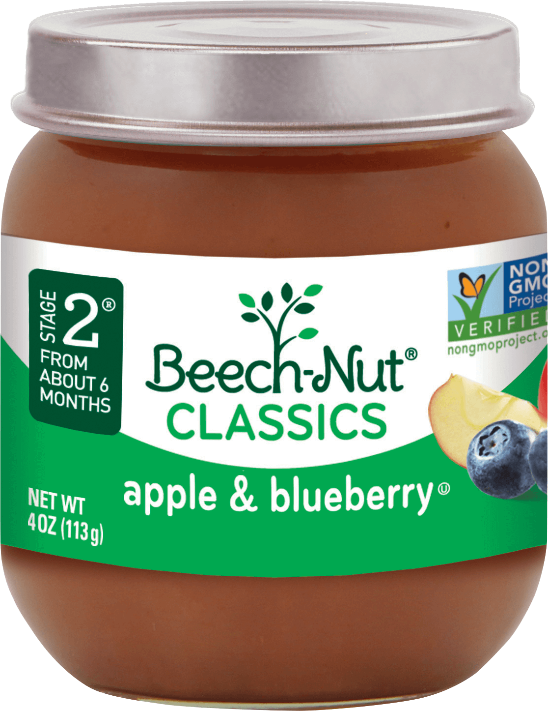 Beech Nut 174 Classics Apple And Blueberry Stage 2 Baby Food