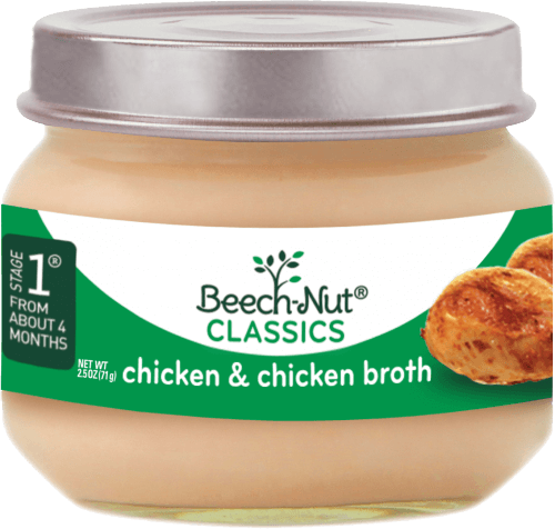 Classics Chicken And Chicken Brothstage 1 Baby Food Jars