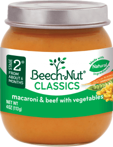 classics macaroni & beef with vegetables jar