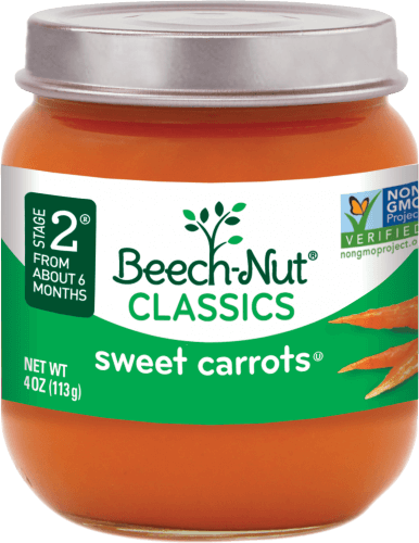 Beech Nut 174 Classics Sweet Carrots Stage 2 Baby Food