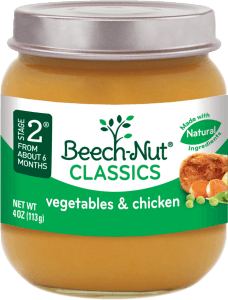 classics vegetables & chicken jar
