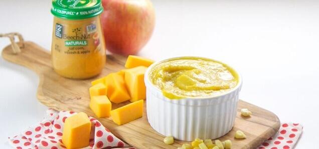 Sweet Corn, Squash & Apple Purée