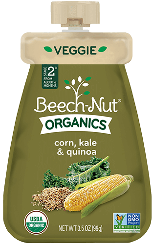 organics corn, kale & quinoa pouch