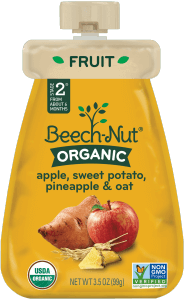 organic apple, sweet potato, pineapple & oat pouch