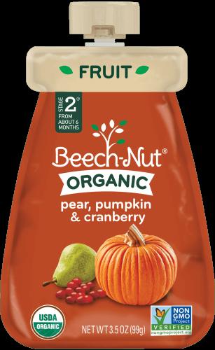 organic pear, pumpkin & cranberry pouch