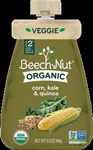 organic corn, kale & quinoa pouch