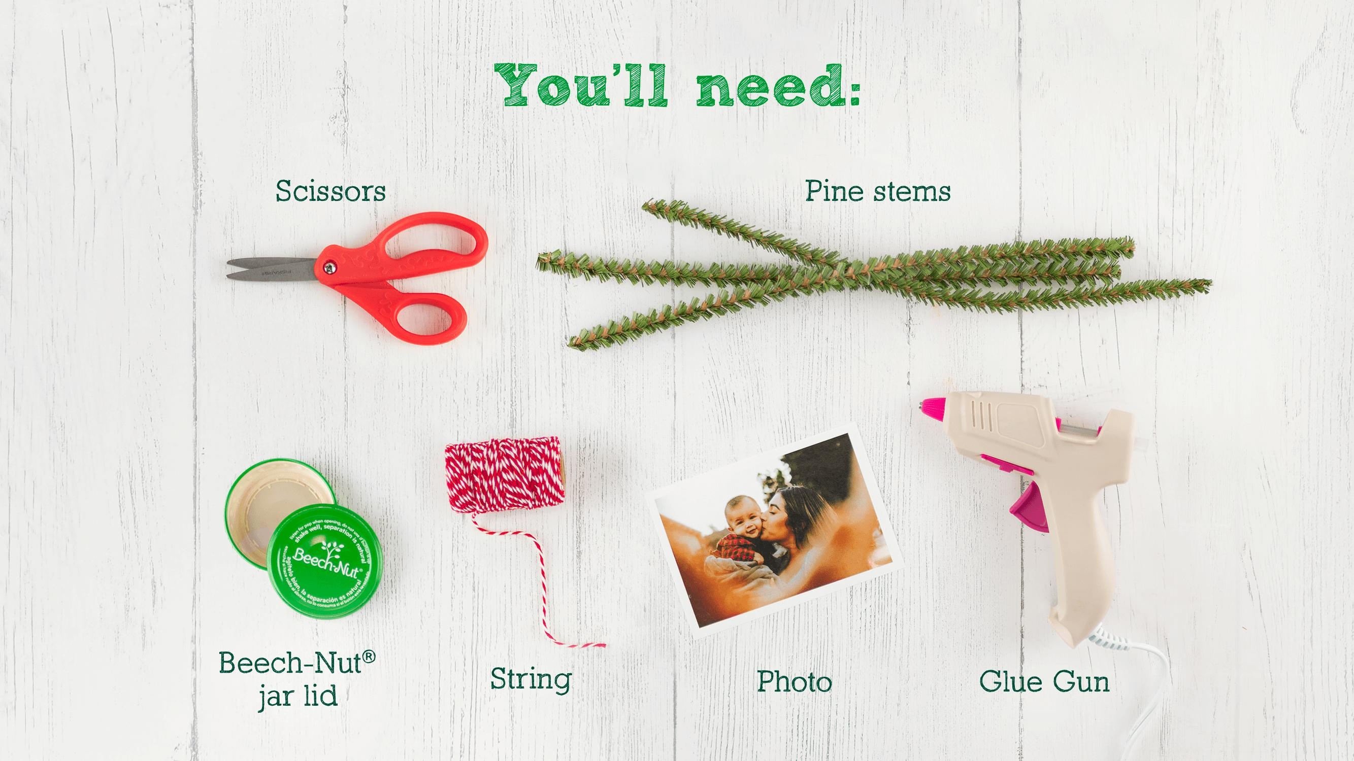 What you need to make the holiday ornament