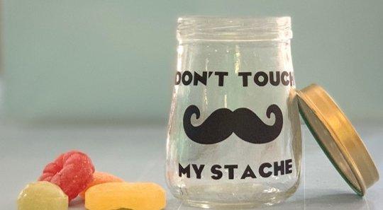 Mustache Jar for Dad