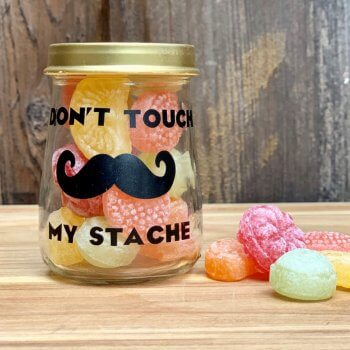 mustache jar for dad