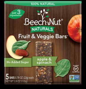 Naturals apple & spinach Fruit & Veggie Bars
