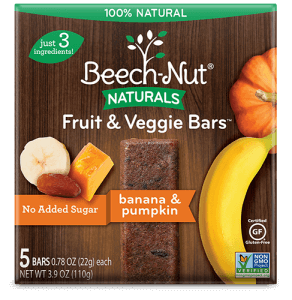 Naturals banana & pumpkin Fruit & Veggie Bars