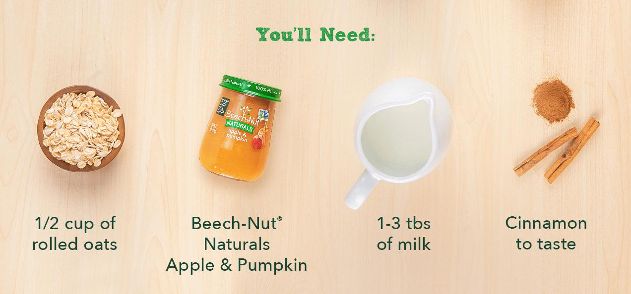 Pumpkin Spice Overnight Oats ingredients