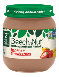 Beech-Nut® banana + strawberries jar