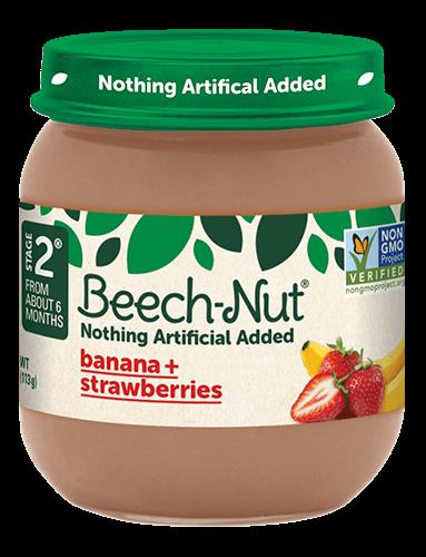 Beech-Nut® banana + strawberries jar