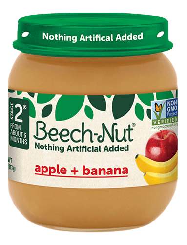 Beech-Nut® apple + banana jar