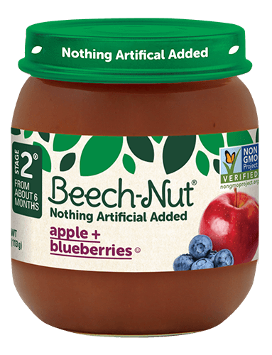 Beech-Nut® apple + blueberries jar