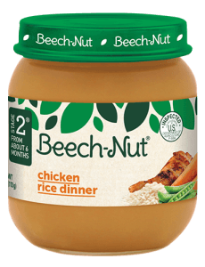 Beech-Nut® chicken rice dinner jar