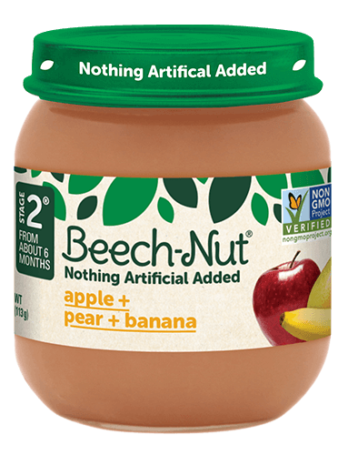 Beech-Nut® apple + pear + banana jar