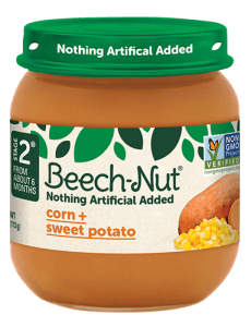 Beech-Nut® corn + sweet potato jar