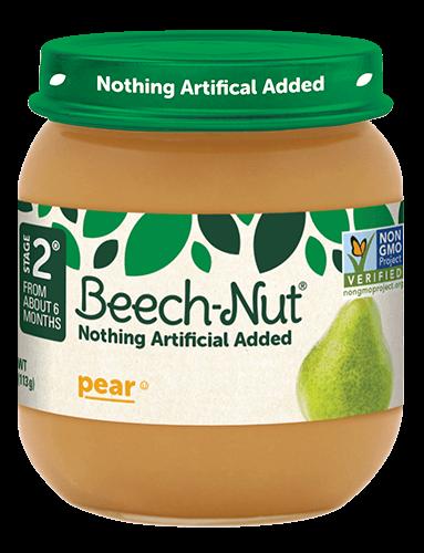 Beech-Nut® pear jar