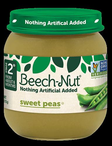 Beech-Nut® sweet peas jar