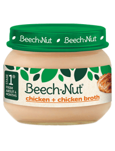 Beech-Nut® chicken + chicken broth jar