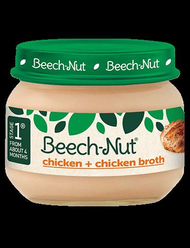 Beech-Nut® chicken + chicken broth jar