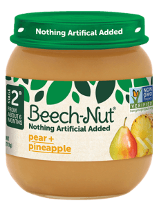 Beech-Nut® pear + pineapple jar