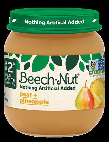 Beech-Nut® pear + pineapple jar