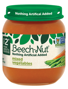 Beech-Nut® mixed vegetables jar