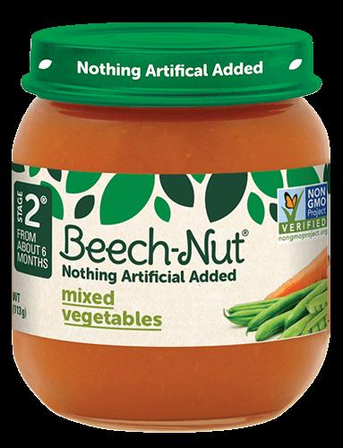 Beech-Nut® mixed vegetables jar