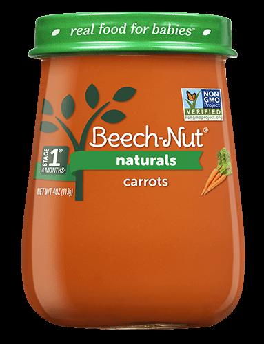 Naturals carrots jar